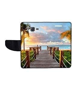 KolorEdge Printed Flip Cover For Samsung Galaxy On5 Multicolor - (1478-50KeMLogo11004SamOn5)