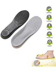LEORX Par de memoria espuma zapato plantilla deportes plantilla ortesis almohadillas arco deporte dolor alivio de la plantilla del zapato - talla L
