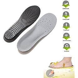 LEORX Par de memoria espuma zapato plantilla deportes plantilla ortesis almohadillas arco deporte dolor alivio de la plantilla del zapato - talla M