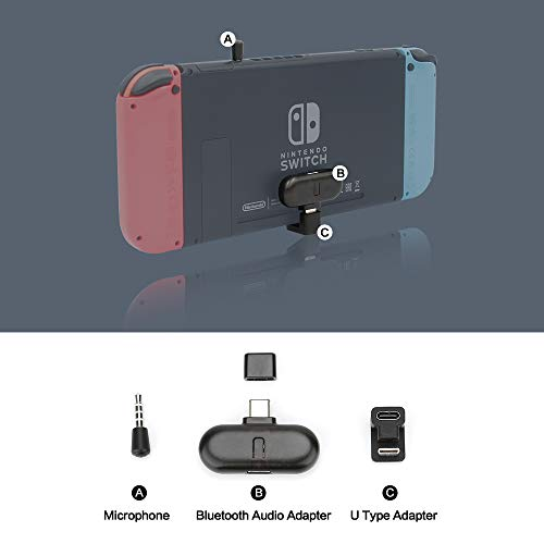 GuliKit Route+ PRO Bluetooth Transmitter Wireless Audio USB-C Adapter oder Empfänger mit Sprachübertragung - unverzichtbares Gaming-Zubehör für Wireless Headset kompatibel mit Nintendo Switch und PC (Wireless Headset Pro Audio)
