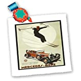 3dRose QS 162966_ 10Deutsche Ski und Auto AD Poster