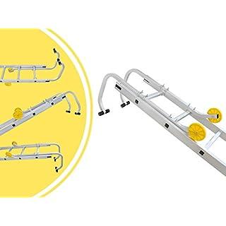 Leogreen - Ladder Roof Hook, Roof Ladder Accessories, 3.1 feet, EN 131, Maximum load: 330 lbs