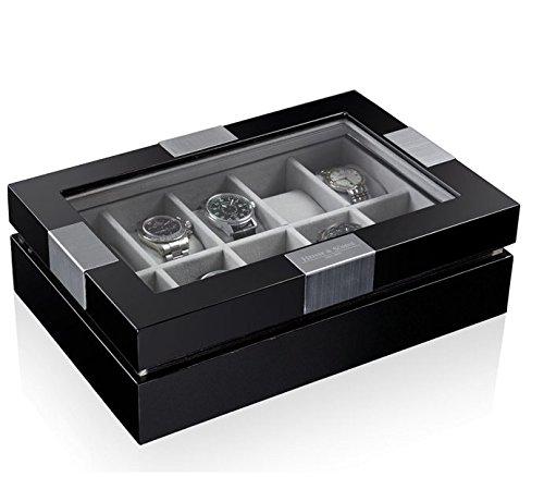 Heisse & Söhne Uhrenbox Executive für 10 Uhren schwarz 108457