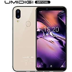 UMIDIGI A3 Smartphone Libres 4G Teléfono móvil Android 9.0 Face Unlock 2GB RAM 16GB ROM 5.5 Pulgadas Cámara Trasera de 12MP + 5MP Batería 3300mAh [Oro]