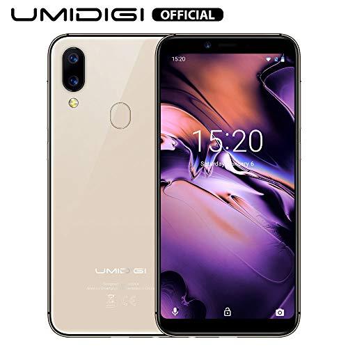 UMIDIGI A3 (2019), Smartphone Pas Cher 4G Ecran 5,5 Pouces Android 9.0 Pie, 2 Nano SIM + 1 MicroSD Téléphone Portable Débloqué, Quad-Core MT6739, 2 Go + 16 Go, Batterie 3300mAh - Or