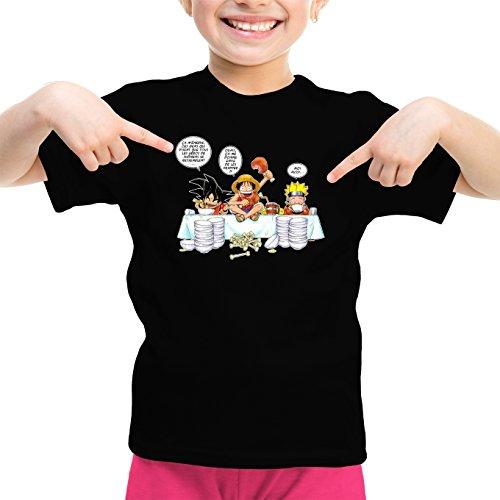 T-Shirts Dragon Ball Z -One Piece - Naruto parodique Naruto, Sangoku Luffy : La Recette d'un Bon Manga : (Parodie Dragon Ball Z -One Piece - Naruto)