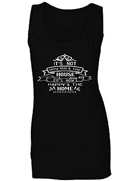 No Es Lo Grande Que Es La Casa Su Como Feliz La Casa camiseta sin mangas mujer k889ft