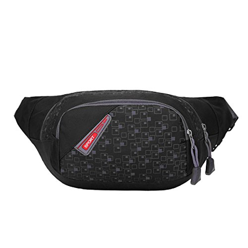 Multifunktionale Outdoor-Sport-Fitness-Taschen Mehrfarbig Black