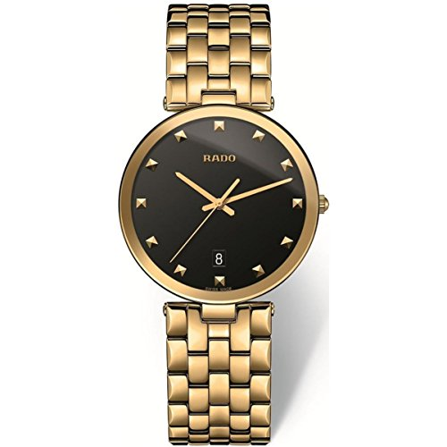 Rado Men's Florence Gold Plated Bracelet & Case Quartz Analog Watch R48868163