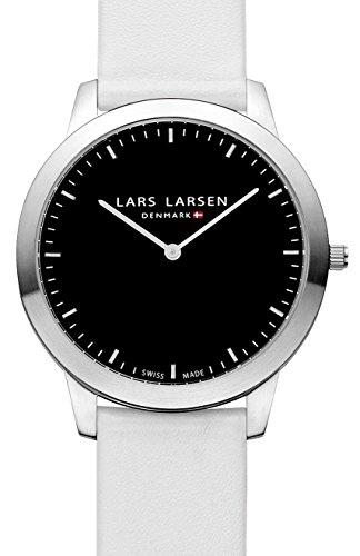 Lars Larsen - 135SBWL - Montre Mixte - Quartz Analogique - Bracelet Cuir Blanc