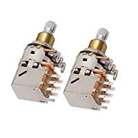 Yibuy 2x Electric Guitar Volume Potentiometers Push Pull Potentiometers A500K