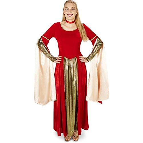 Maid Marian Damen Fasching Halloween Karneval Kostüm Deluxe Kleid (Small)