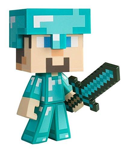 Minecraft Diamond Steve - Figura coleccionable (vinilo) - Figura Diamo