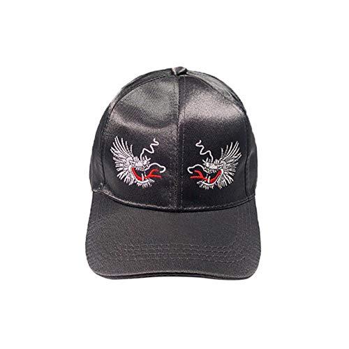 Yosrab Embroidery Dragon Peaked Sun Hat Women Men Cap Mens Brim Baseball Cap Hip Hop Hats Cap Womens Vintage-pink Camo