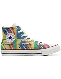 Converse All Star Customized, Sneaker Unisex, printed Italian style Rolling Stones