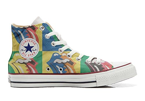 Converse Customized Chaussures Coutume (produit artisanal) Rolling Stones
