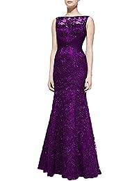 JAEDEN Mujer Encaje Vestidos de noche de la sirena Largo con aplicaciónes Vestido de fiesta Vestido