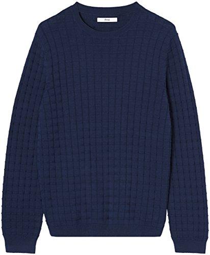 FIND Pullover Herren aus Baumwolle mit rundem Ausschnitt Blau (Navy)