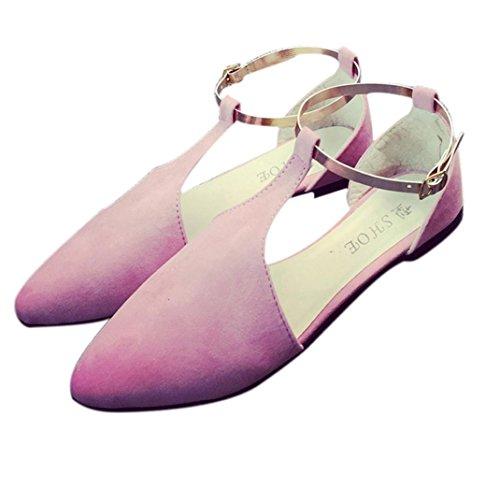 Webla Damen Sandalen Strass Thick Mid Heel Open Toe Farbe Block Dekoration Sandalen T-Spangen Sandalen Mode Sandalen Frauen Pumps High Heels Schuhe Damen Schuhe Rosa
