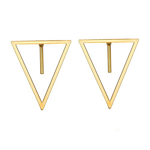 UINGKID Ohrstecker Mode Einfache Stilvolle 1 Paar Hochwertige Mode Einfachen Dreieckigen Wort Ohrring Für Frauen (Ohrringe Auf Opal Clip)