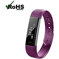 pulsera pulsera pulsometro pulsera deportiva,Pulso pantalla oled pulsómetro sport fitness pulsera inteligente bluetooth Recordatorio Sedentario/Reloj Deportivo De Ejercicio para iPhone iOS Android