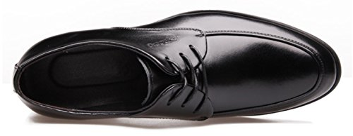 DADAWEN Homme Mode Commercial Leather Chaussure Noir