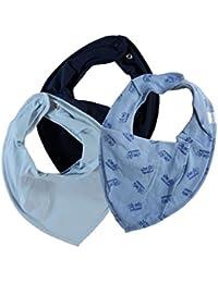 name it * 3er SET Baby Dreieckstuch Halstuch Sabberlätzchen 3 Stück * Autos & hellblau & dunkelblau
