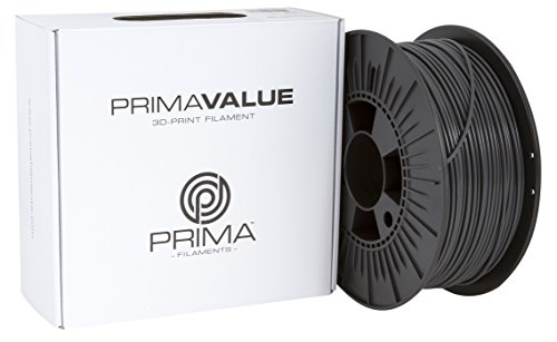 PrimaCreator PrimaValue 3D Drucker Filament - ABS  - 1,75 mm - 1 kg  - Dunkelgrau