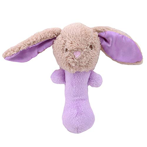 Fliyeong Premium Baby Rassel Ringe Spielzeug weichem Plüsch Kaninchen Handglocke Entwicklungs frühen pädagogischen Spielzeug lila -