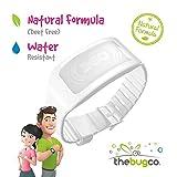 BugCo TheBugWatch - Bracciale antizanzare (Super Protezione - Protegge Contro zanzare e Insetti - Repellente a 360° - Bianco