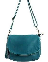 Sac bandouliere cuir Mavy Italie - Aqua - sac a main cuir femme