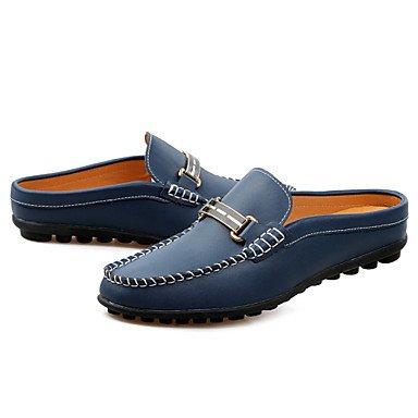 Herren Schuhe Casual Leder-slipper White/Navy Weiß