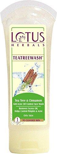 Lotus Herbals Teatreewash Tea Tree and Cinnamon Anti-Acne Oil Control Face Wash, 120g