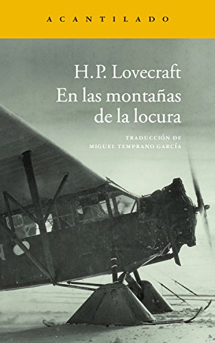 En las montañas de la locura (Narrativa del Acantilado nº 237) por Howard Phillips Lovecraft