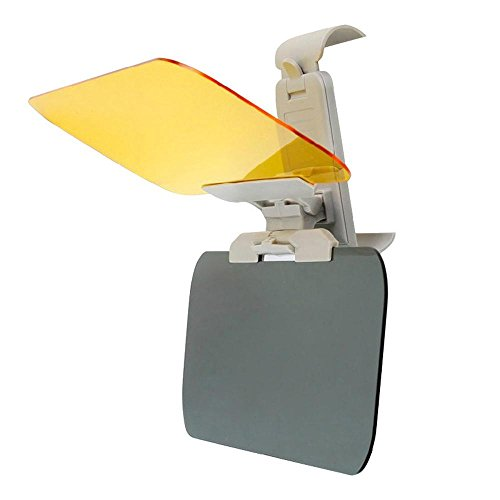 KOBWA Auto-Blendschutz für Tag und Nacht, 2-in-1, blendfrei, HD-Visier, Premium-Qualität, universell verstellbar, Tag- und Nachtsicht, blendfrei