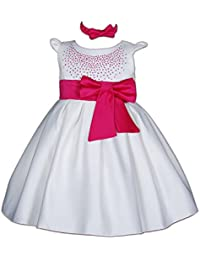 Amazon.it  Rosa - Abiti da battesimo   Bambina 0-24  Abbigliamento 9e3af0fa2f0