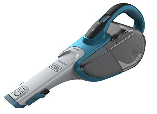 Black+Decker Lithium Dustbuster DVJ320J mit Cyclonic Action - 10,8V Akku Handstaubsauger, ausziehbare Fugendüse & Polsterbürste - Beutelloser, kabelloser Staubsauger - Lange Saugdüse - Meeresblau