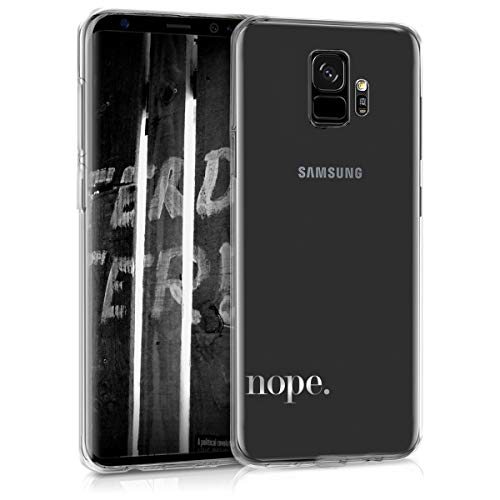 Transparent Handy (kwmobile Samsung Galaxy S9 Hülle - Handyhülle für Samsung Galaxy S9 - Handy Case in Silber Transparent)