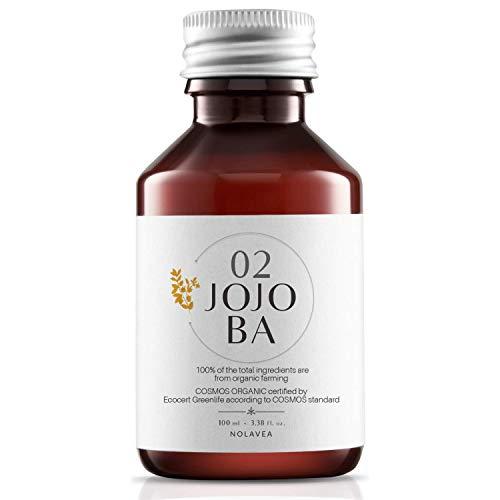Huile de Jojoba 100% Végétale - 100 ml - Made in France - Huile Bio et Vegan - Haute Qualité : Pressée à Froid et Vierge - Soin Visage et Serum Cheveux - Régule, Hydrate, Nourrit et Adouc