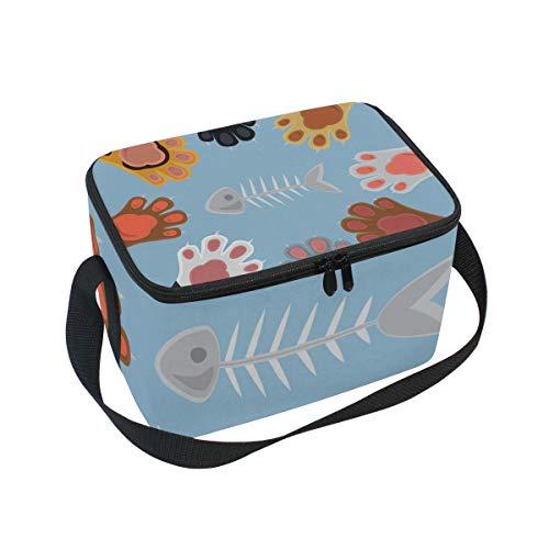 Lunchbox für Damen, Motiv: Katzenspieler Rock aus Papier -