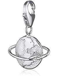 SilberDream 925 Sterling Silber Charm Weltkugel Anhänger für Armband Kette Ohrring FC3081