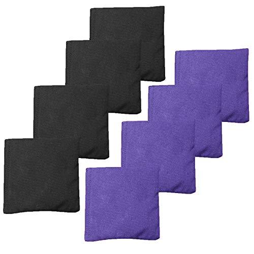 Play Platoon Premium wetterfeste Sitzsäcke für Maislöcher, 8 Stück, Größe und Gewicht, lila/schwarz