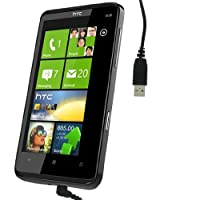 Kit USB Data Sync and Charge Cable for HTC HD7 - Black