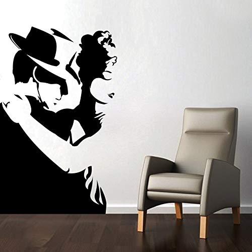 Tianpengyuanshuai Tango Dance Wandaufkleber Wohnkultur Mobile Vinyl Kunstwand Mann und Frau Silhouette Wandtattoo 72 x 45 cm