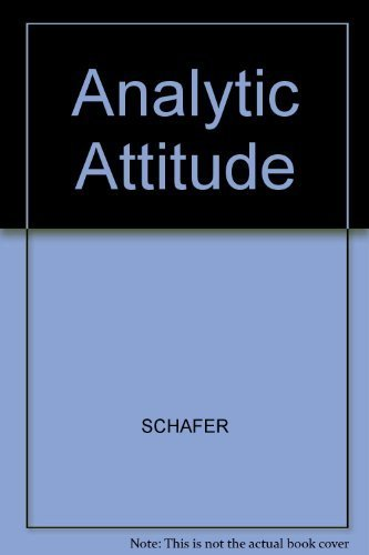 The Analytic Attitude by Roy Schafer (1983-05-03)