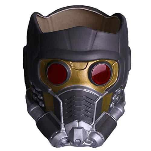 Maske Star Lord Kostüm - Beschützer Der Galaxis Star-Lord Helm Maske Halloween Gesichtsmaske Cosplay Männer Erwachsene Maskerade Kostüm Prop,A-OneSize