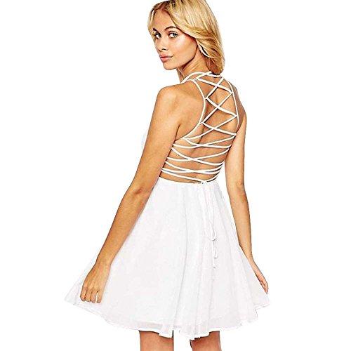 VJGOAL Damen Sexy Kleider Party Abendkleid Solide Mode -