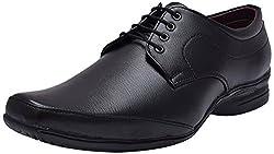 John Karsun Mens Black Synthetic Derby Shoes - 7 UK