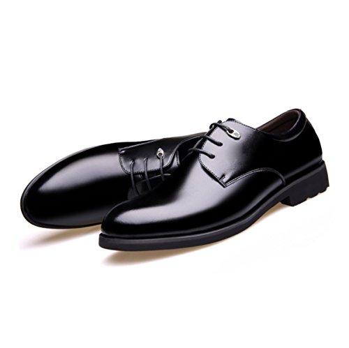 LYZGF Uomini Signore Primavera E Autunno Grandi Business Casual Moda Scarpe A Punta In Pizzo In Pelle Black