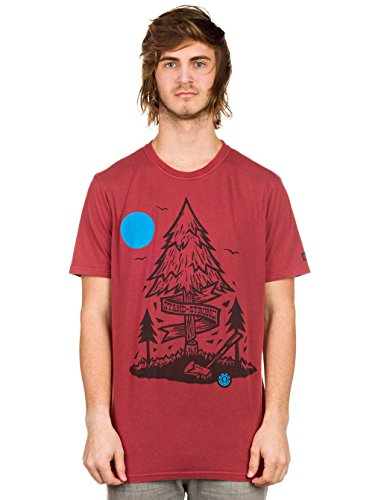 Element Herren T-Shirt bordeaux
